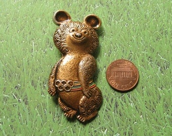 Olympic Games 80, Moscow Games Symbol, Russian Bear Symbol, Olympic Games Pin, Olympic Party, USSR Olympic Games