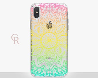 Mandala iPhone X Clear Case For iPhone 8 iPhone 8 Plus - iPhone X - iPhone 7 Plus - iPhone 6 - iPhone 6S - iPhone SE - Samsung S8 - iPhone 5