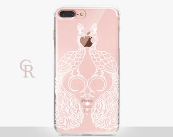 Peacock Clear Phone Case Phone Case For iPhone 8 iPhone 8 Plus iPhone X Phone 7 Plus iPhone 6 iPhone 6S  iPhone SE Samsung S8 iPhone 5