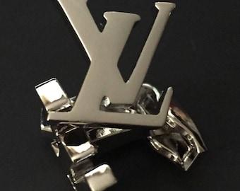 LV Paris Cufflinks in White Gold Plated