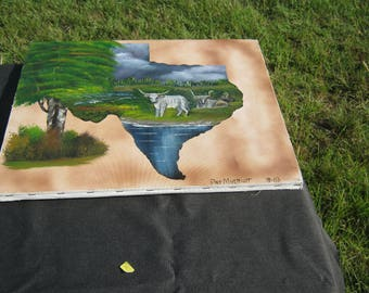 Texas shape painting.