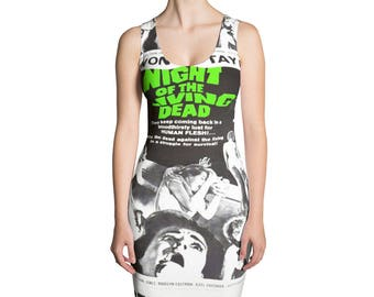 Night Of The Living Dead Sublimation Vintage Dress