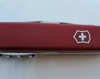 Vintage 1980s Victorinox Traveller Swiss Army Knife Retired