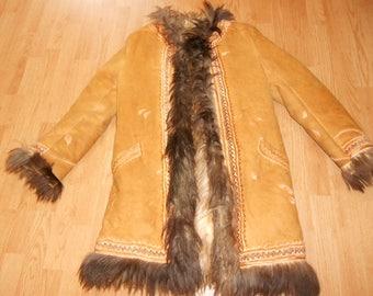 Real handmade Lovely Afghan sheepskin coat
