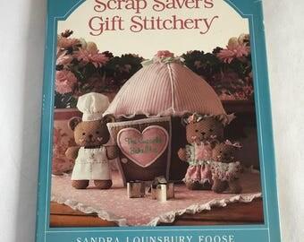 vintage craft books, kids crafts book, vintage sewing book, Sandra Lounsbury Foose, Scrap Savers Gift Stitchery
