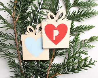 Personalised Heart Christmas Tree Parcel