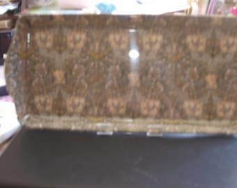 Green/Beige Flowery Sandwich Tray