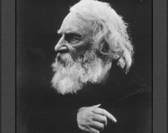 Poster, Many Sizes Available; Henry Wadsworth Longfellow On The Isle Of Wight, England In 1868 By Julia Margaret Cameron (1815 – 1879)