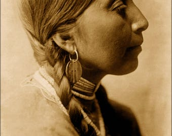Poster, Many Sizes Available; Young Wishham Native American Indian Woman 1910 By Curtis