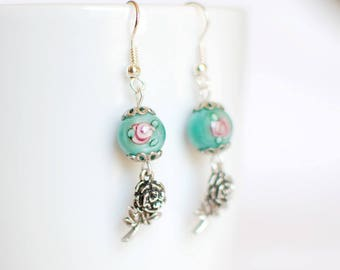 Rose and Romance - earrings