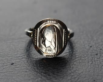 Religious silver ring - Blessed Virgin