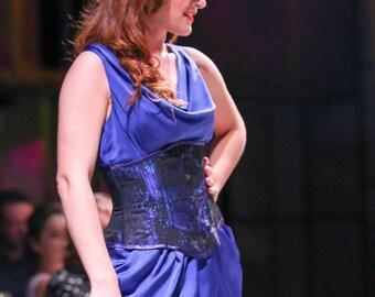 Blue Velvet Underbust Corset