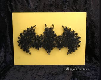 Batman String Art   MADE TO ORDER