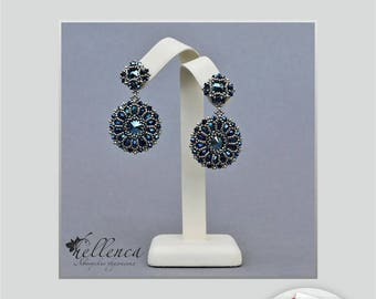 Earrings Metallic Blue - pattern in PDF (Russian language)