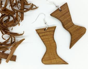 Polygon Earrings, Unique Earrings, OOAK Earrings, Wood Earrings, Eco Jewelry, Eco Earrings, Wooden Earrings, Natural Earrings, Eco Friendly