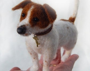 Jack Russell Pet Portrait  Needle felted, Commissions