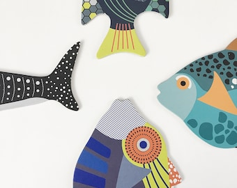 Baby Toys, Childrens Beginner Toys, Toddler Toys, Fish Toy, Cardboard Puzzles, Modern Baby Toys, Animal Puzzle, Unique Toy Puzzle, First Toy