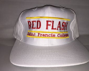 Vintage St. Francis Red Flash Snapback hat cap rare 90s The Game bar College deadstock nwot
