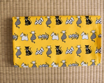 japanese cat and dog fabric for 1/2 yard