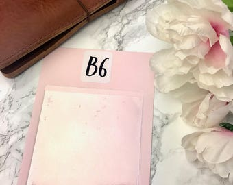 B6 DashStash Adhesive Vinyl Pockets  For TN's and Midori Travelers Notebook & Ringbound Planners 003
