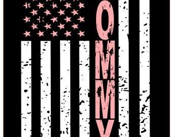 Mommy distressed flag SVG File, Quote Cut File, Silhouette File, Cricut File, Vinyl Cut File, Stencil