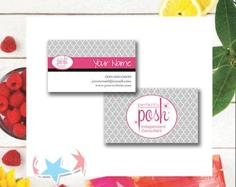 Perfectly Posh Business Cards   Digital or Print   sku802