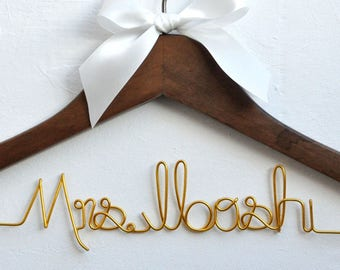 Wedding Gift,Bride gift,Personalized Wedding Hangers,Name Hanger,shower gifts custom made wedding Hangers,Bridal Hanger