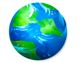 1 Piece - RESIN Planet Earth World Flatback Flat back Accent   - Approx. 2 inches for Hair bow Center