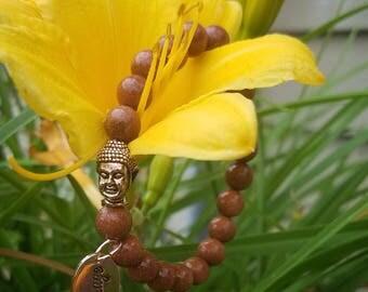 Natural goldstone inspirational bracelets