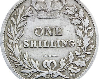 1881 Shilling Victoria Queen Great Britain Silver Coin British