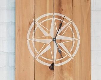 Square Nautical Wall Clock
