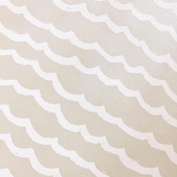 Changing Pad Cover - KUJIRA Waves in Sand - MADE-to-ORDER - beige ocean changing pad, travel changing pad, travel theme nursery, cream