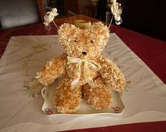 Juju wool knit toy bear