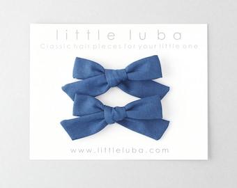 Pigtail bows, pigtail set, pigtail bow set, pigtails, Baby Bows, Baby Bow Clip, Girls Pigtail Set, Pigtail Bow Sets . CADET BLUE Pigtails