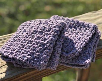 Purple Cottin Dishcloths