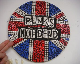 Punks Not Dead handcrafted mosaic design