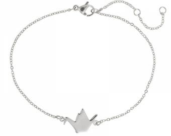 Origami Swan bracelet in 925 Silver or gold plated
