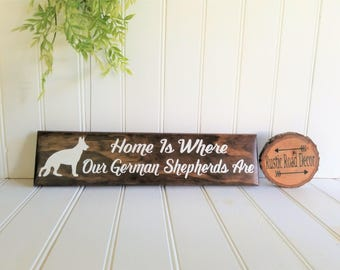 German Shepherd Sign Military Dog Sign Police Dog Sign Rustic German Shepherd Sign