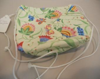 Drawstring Shoulder Bag, 6 inch square