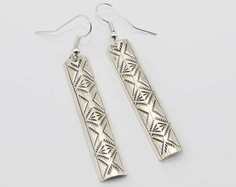 Native American Jewelry,Navajo,Sterling,Navajo Silver,Native American,Navajo Sterlings,earrings,Native, Navajo Sterling Silver Earrings