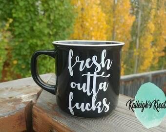 Fresh Outta F*cks Camper Style Mug