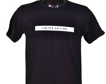 T shirt printed LIMITED EDITION - design - black / / limited edition print black color men t-shirt sizes s-m-l-xl whithe