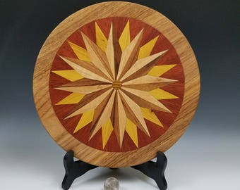 Wooden Trivet, Hot Plate, Wood Coaster, Beautifully Colored Woods, Hot Pad