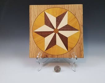 Wooden Trivet Hot Plate, Wood Coaster, Beautifully Colored Woods