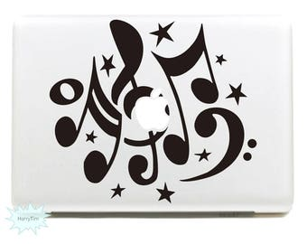 Musical note Decal Mac Stickers Macbook Decals Macbook Stickers Apple Decal Mac Decal Stickers Laptop Decal