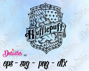 Hufflepuff House SVG, Harry Potter, eps dxf pdf png, Cut Files Designs for Silhouette Studio and Cricut Design - Digital Instant Download
