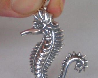 For Sale Seahorse Silver Pendant - Hippocampus