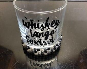 Mens tumbler whiskey glass