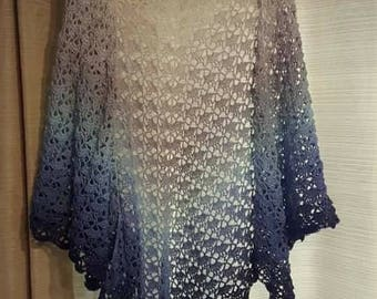 Beautiful crocheted South bay shawl