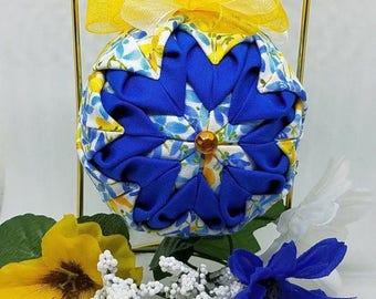 Quilted Fabric Keepsake Ornament Summer Time